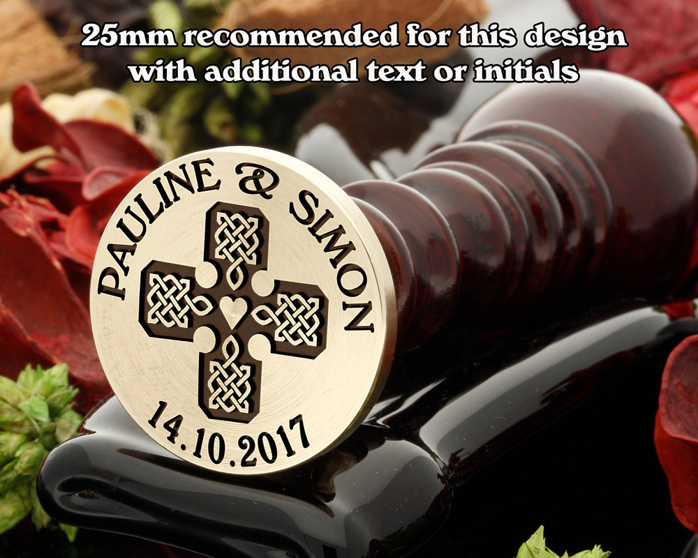 Celtic D3 Wax Seal, additional text extra