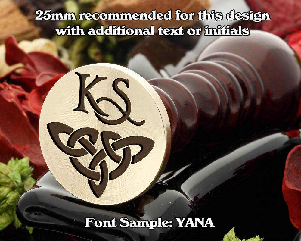 Celtic Wax Seal D9 with monogram KS