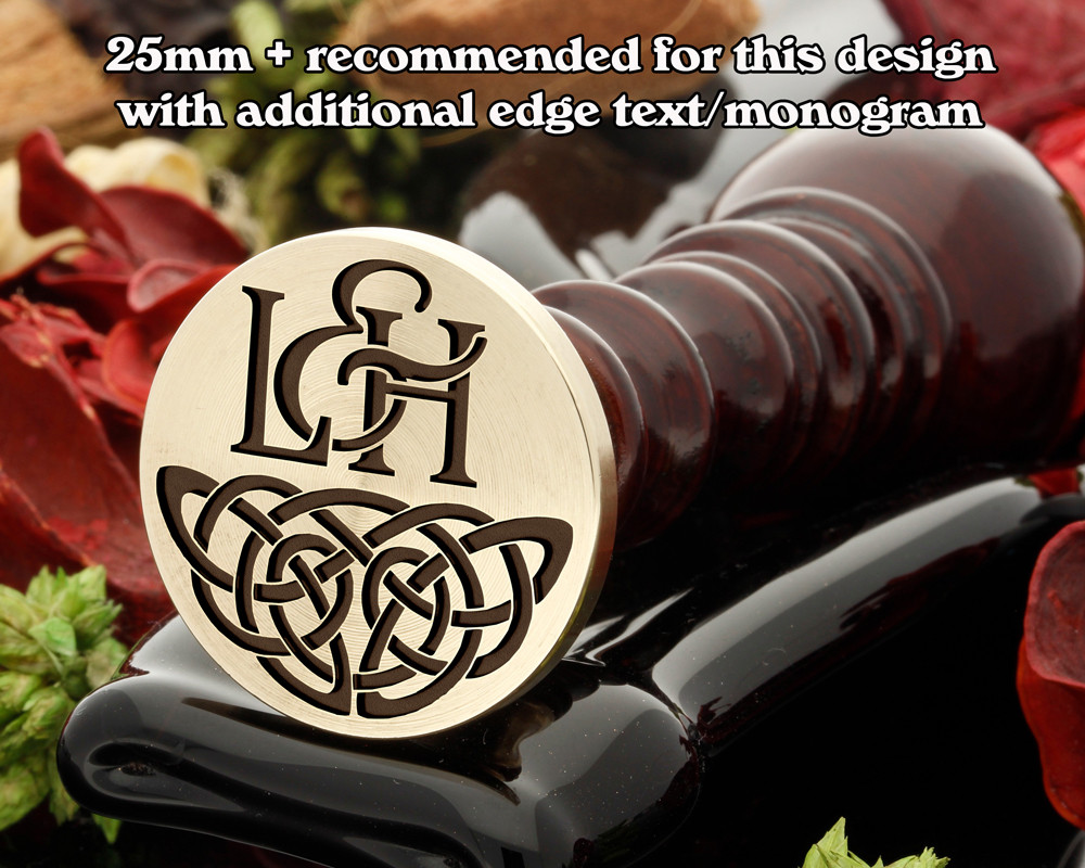 Celtic Wax Seal D10 with monogram