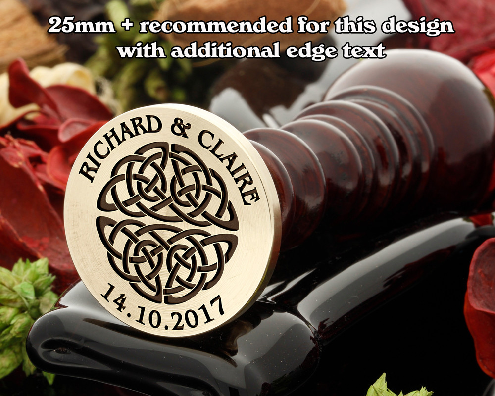 Celtic Wax Seal D10 with additional text