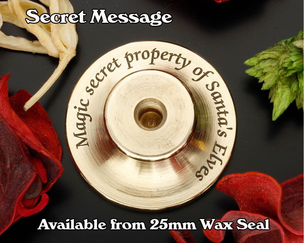 Secret Message on back of brass stamp