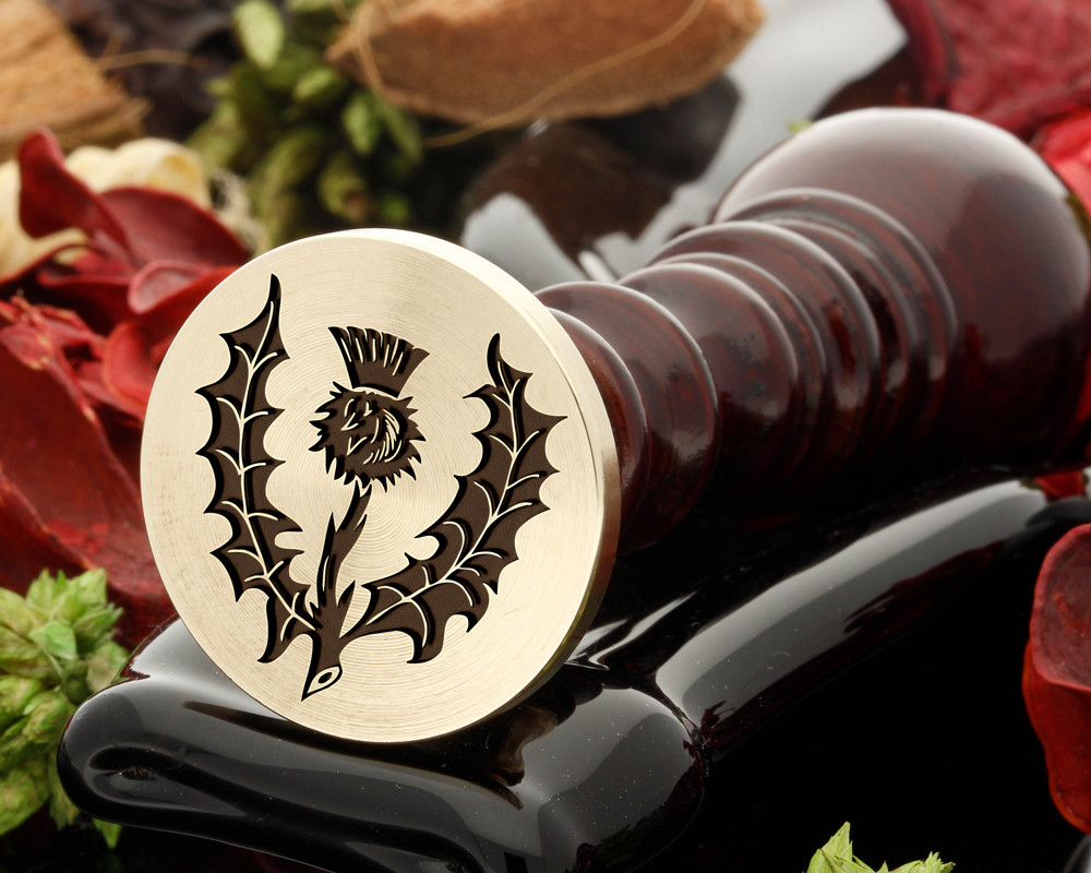 Thistle 1 wax seal