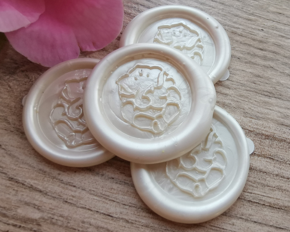 Ganesh Peel and Stick Wax Stickers Pearl White