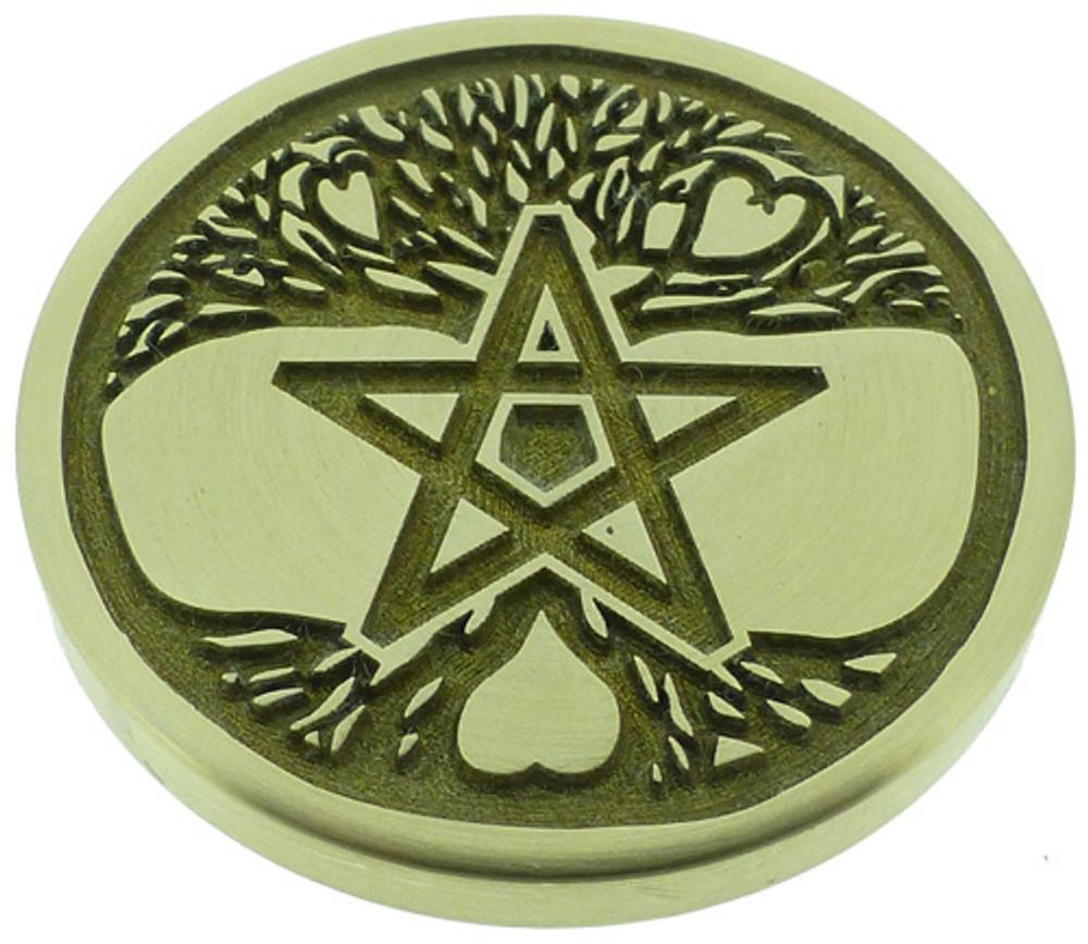 Engraved wax seal design.
