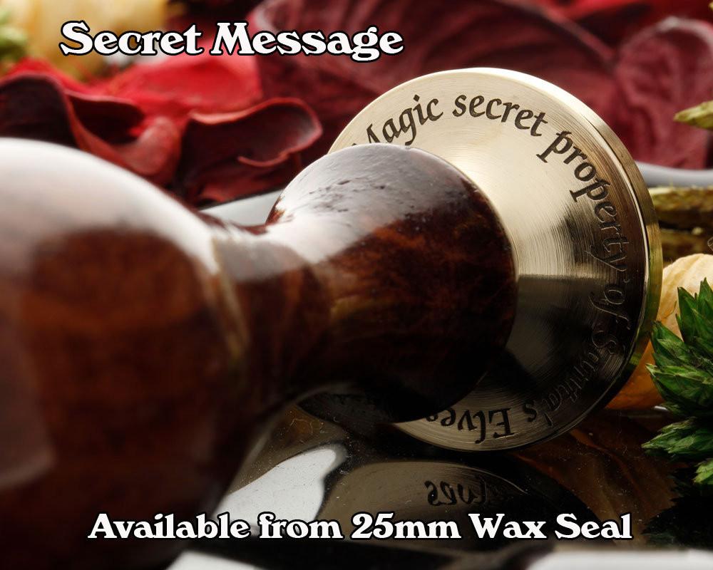 DU UD Victorian Monogram Wax Seal Stamp