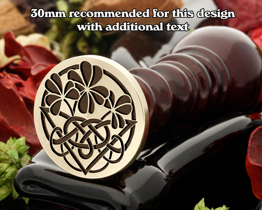 Celtic Clover Wax Seal 30mm recommended for edge text