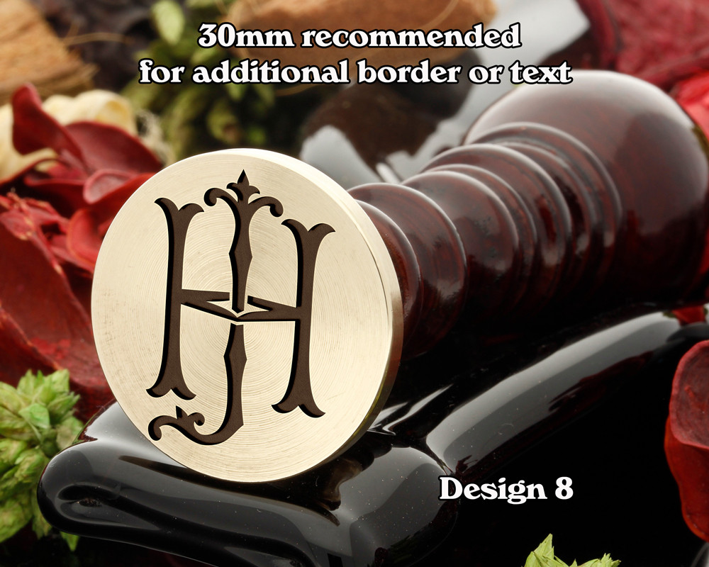 Victorian Monogram HJ JD Wax Seal D8