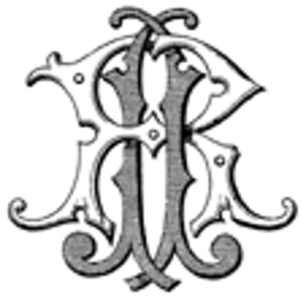 JR RJ VICTORIAN MONOGRAMS DESIGN 1