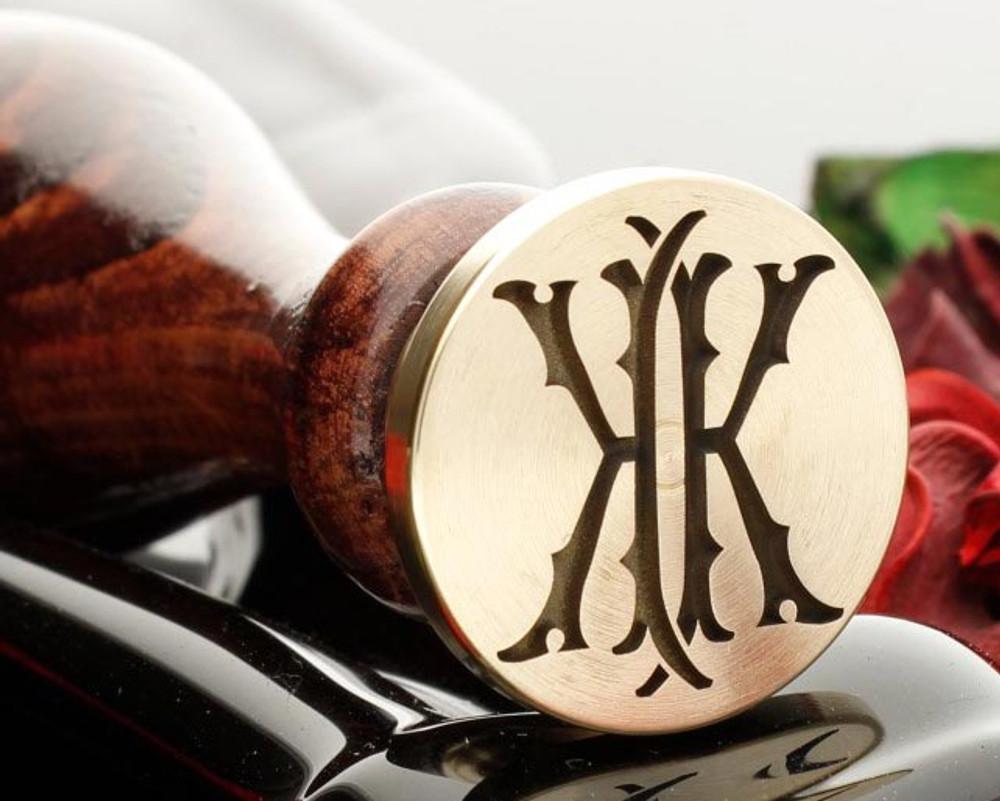 Victorian Monogram Wax Seal KK design 1