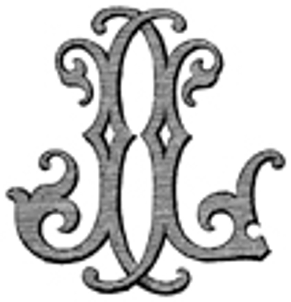 JL LJ VICTORIAN MONOGRAMS DESIGN 1