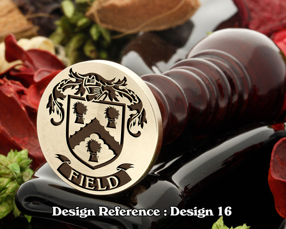 Field Family Crest Wax Seal D16