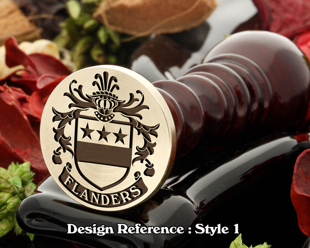 Flanders Family Crest Wax Seal D1