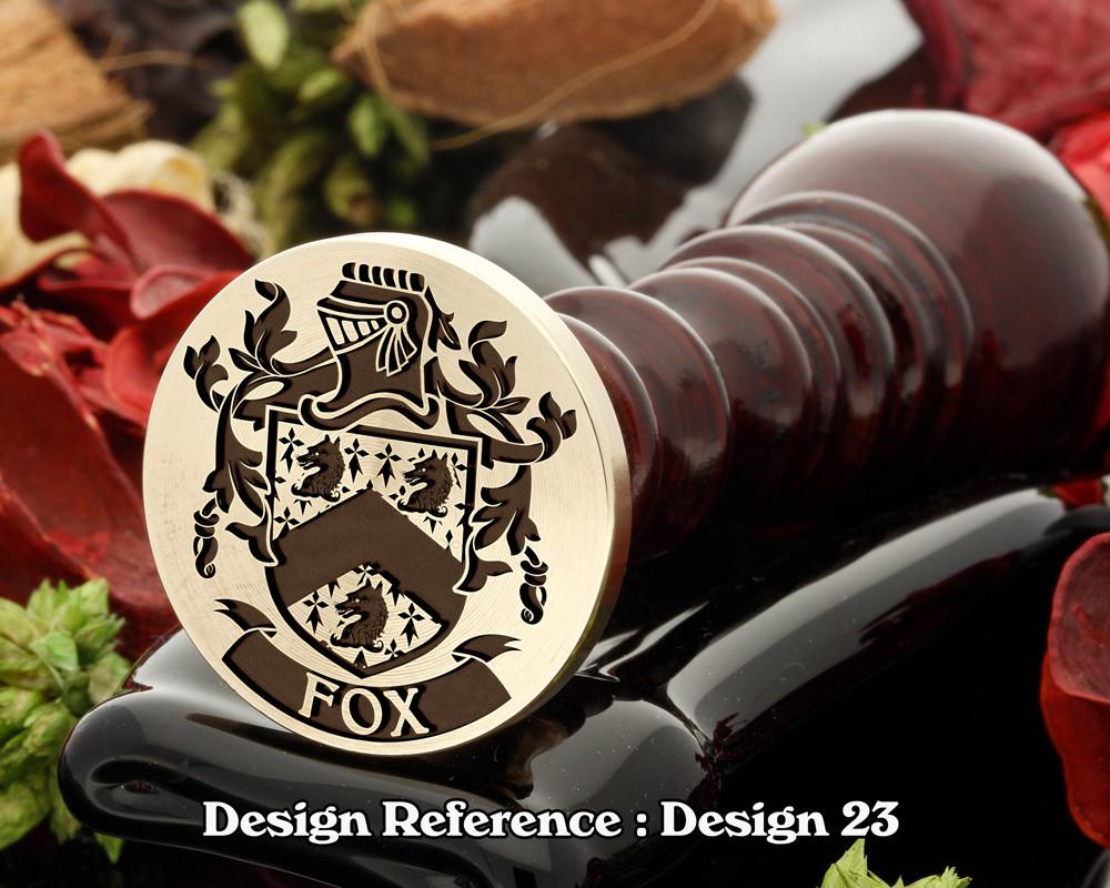 Fox Family Crest Wax Seal D23