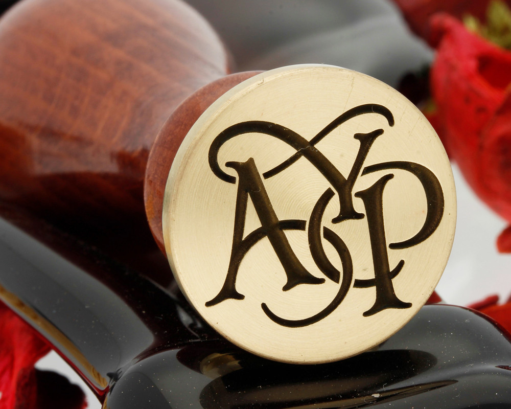 CUSTOM 3 INITIALS DESIGN Monogram Wax Seal Stamp From 25mm