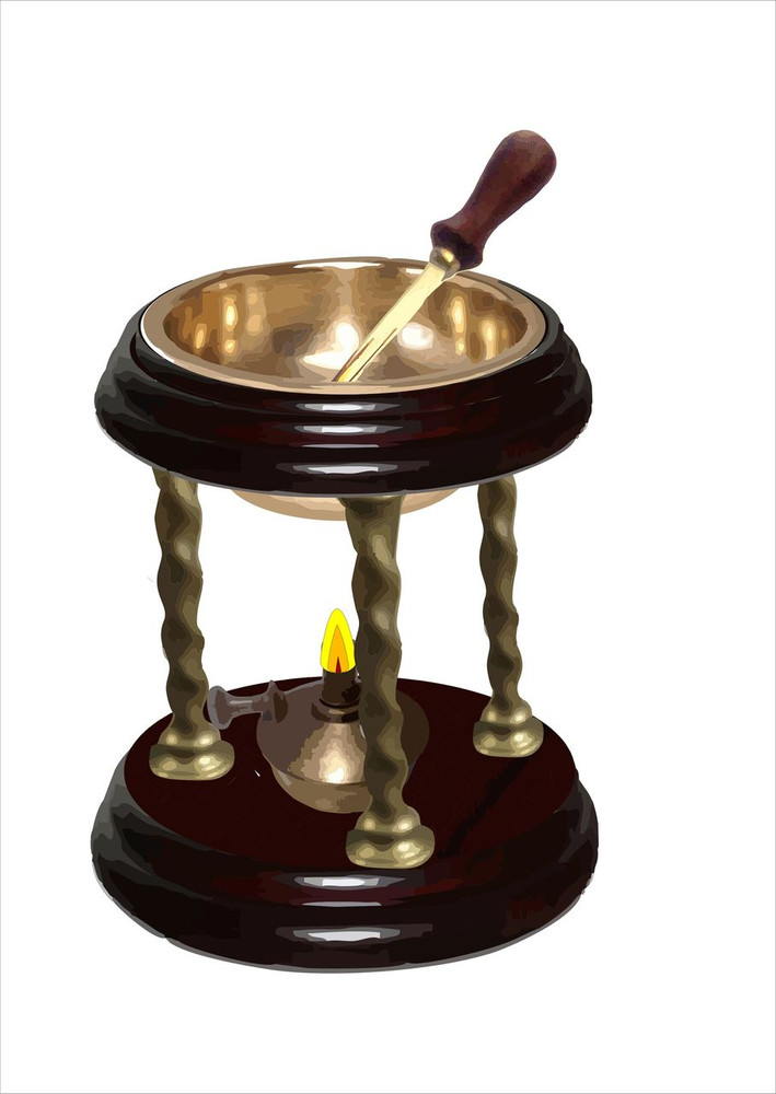 Graphical drawing of wax seal heater set