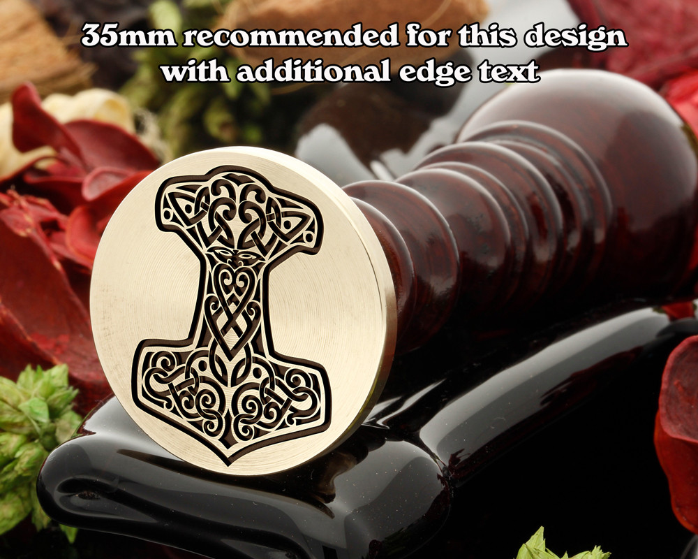 MJOLNIR - Hammer of Thor Wax Seal Design from 30mm