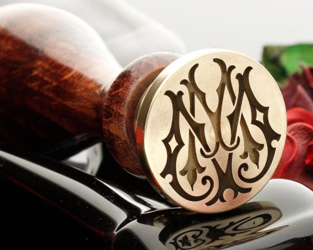 Victorian Monogram Wax Seal MM Design 3