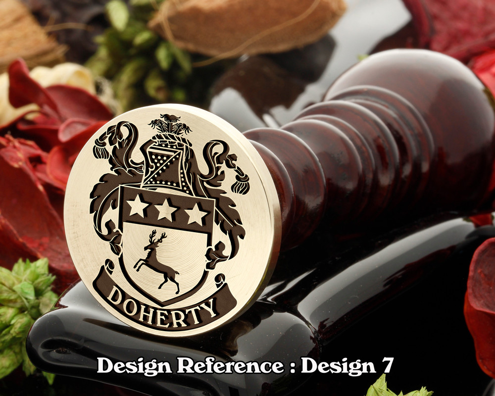 Doherty Family Crest Wax Seal D7