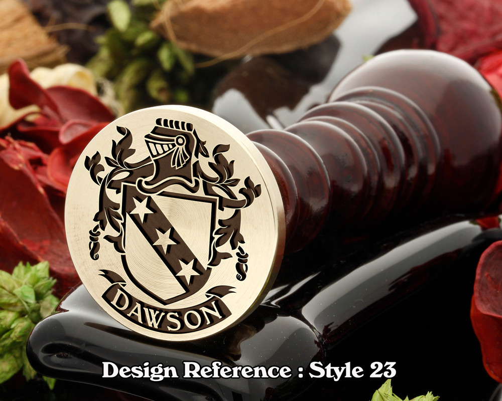 Dawson  Family Crest Wax Seal D23