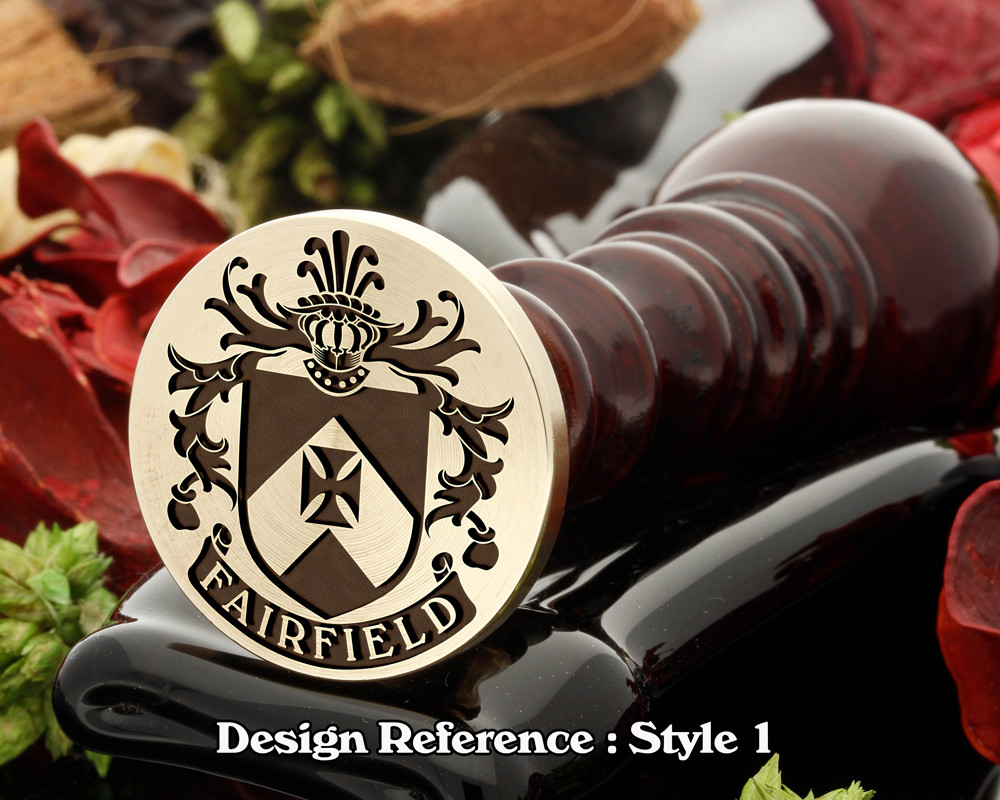 Fairfield Family Crest Wax Seal D1