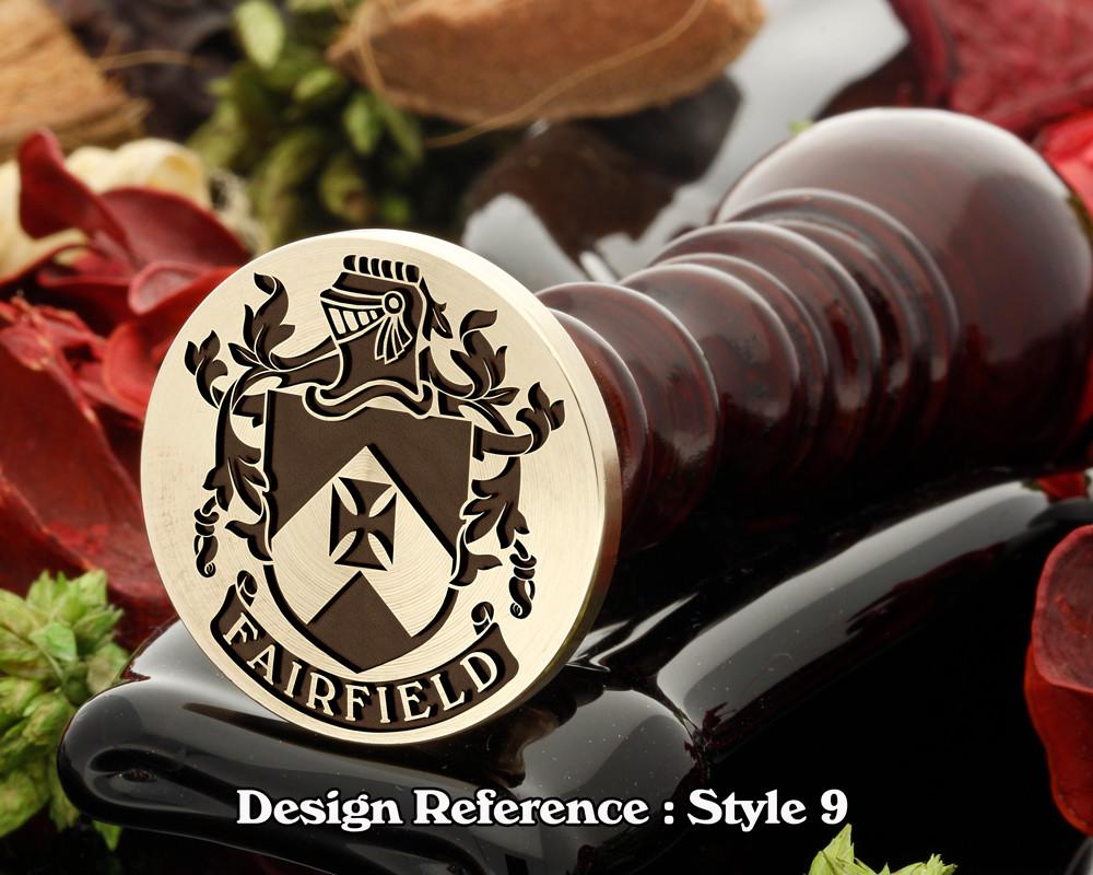 Fairfield Family Crest Wax Seal D9