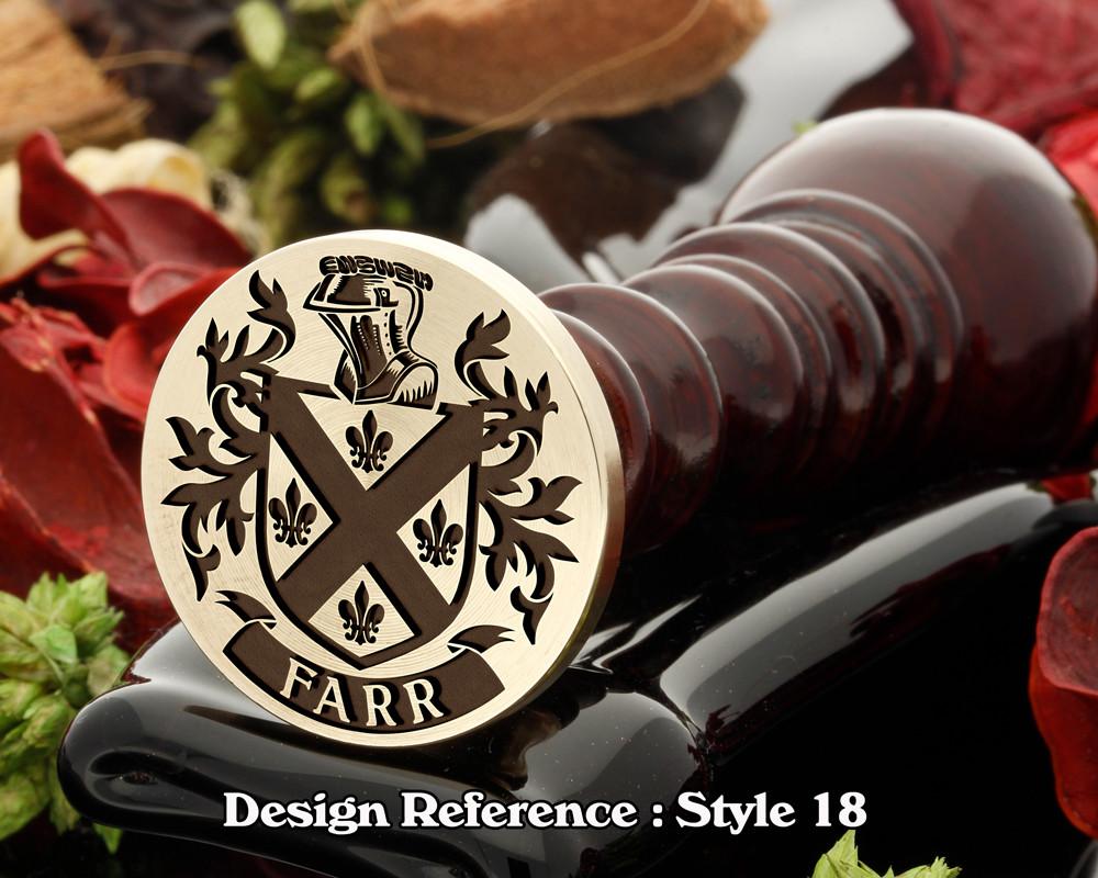 Farr Family Crest Wax Seal D18