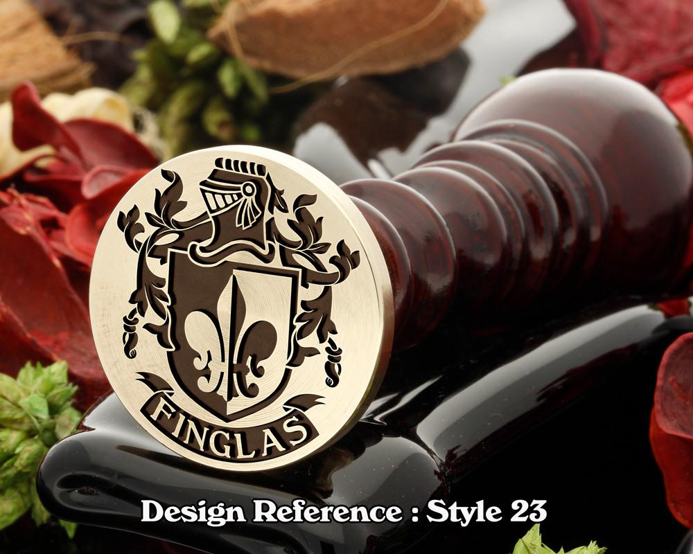 Finglas Family Crest Wax Seal D23