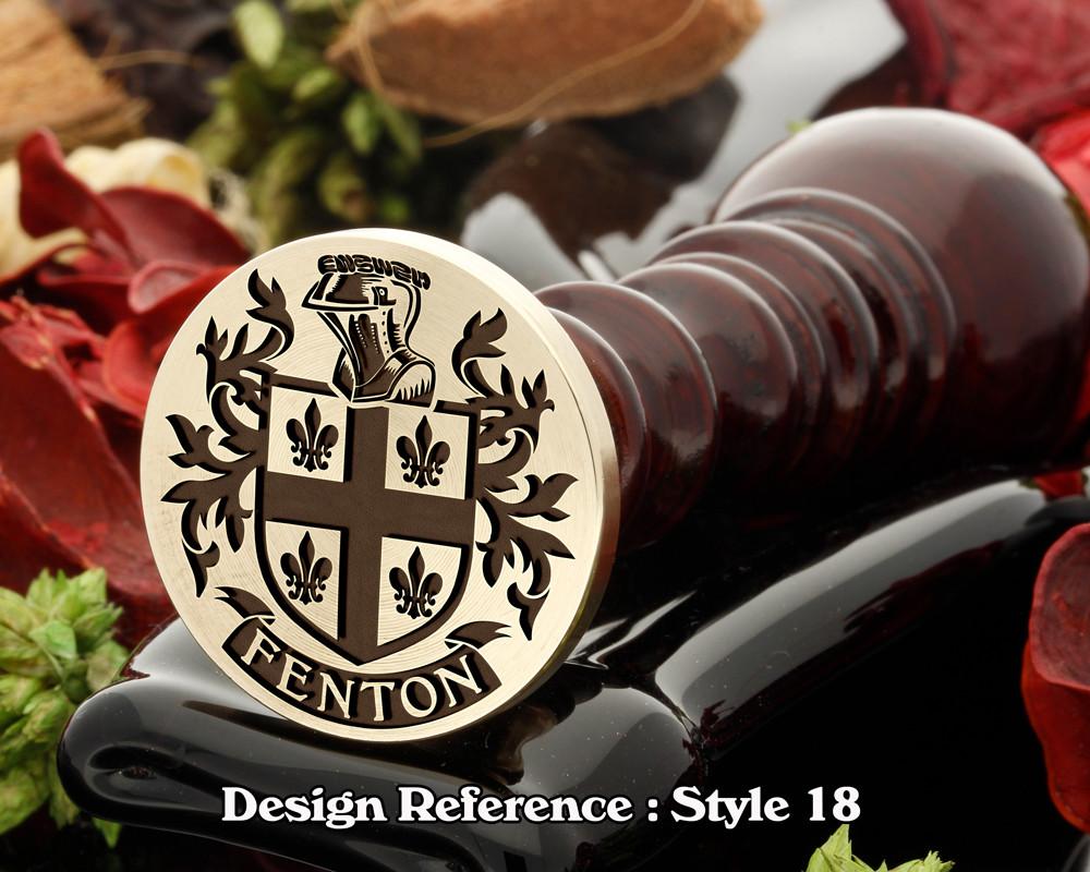 Fenton Family Crest Wax Seal D18