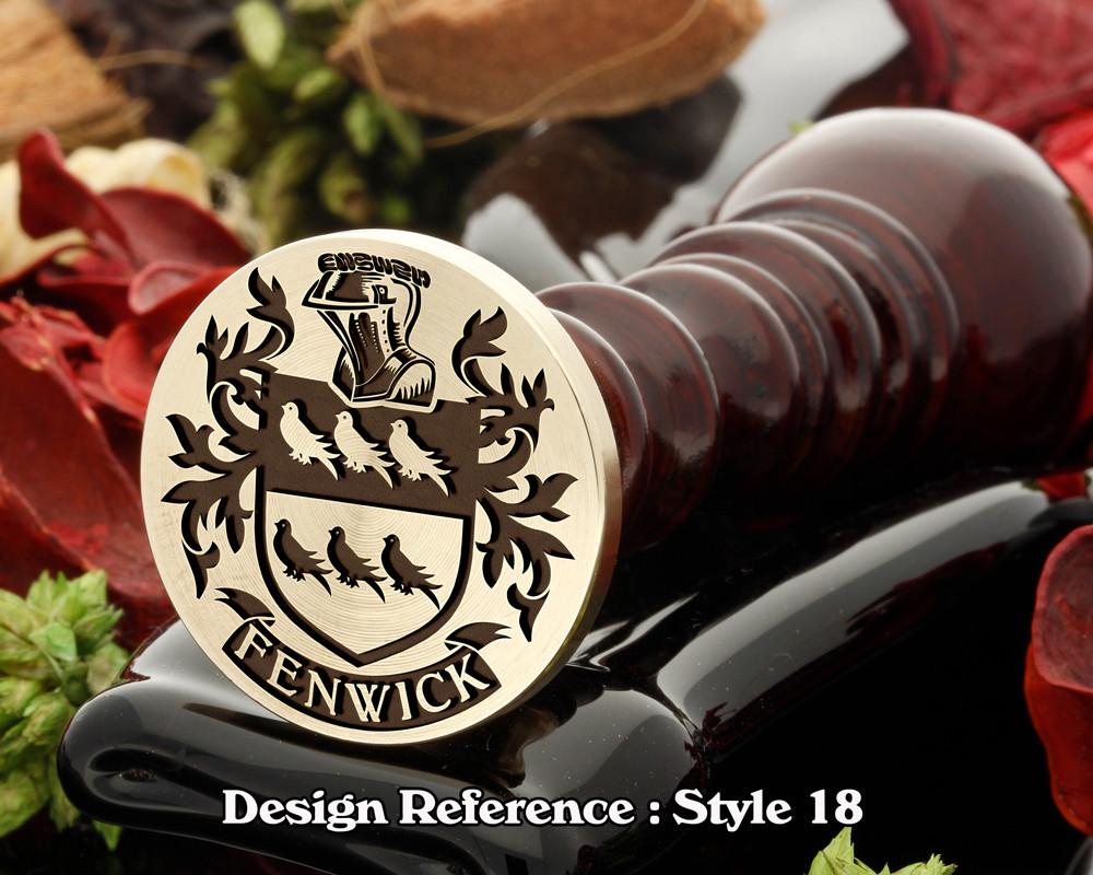 Fenwick Family Crest Wax Seal D18