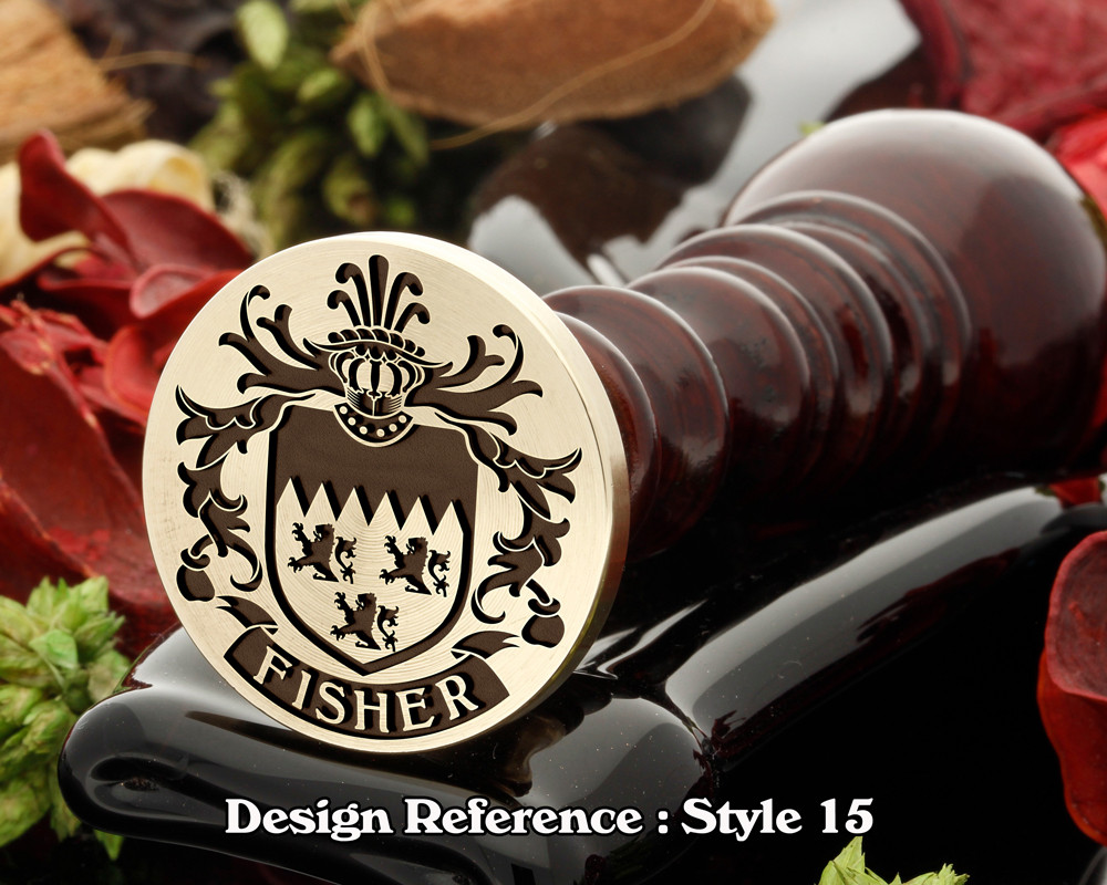 Fisher Family Crest Wax Seal D15