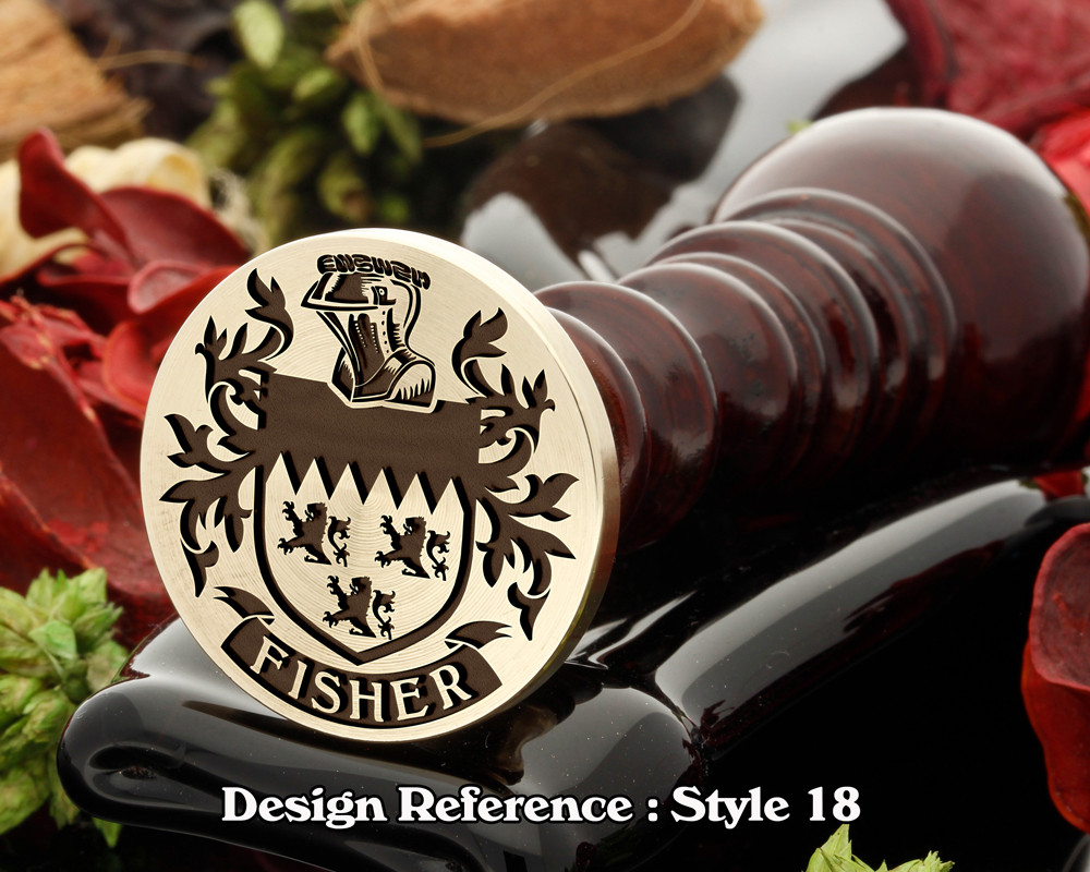 Fisher Family Crest Wax Seal D18
