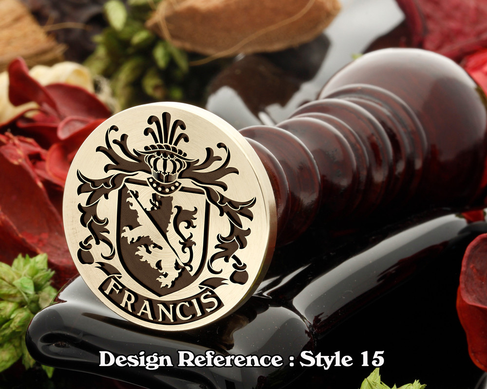 Francis Family Crest Wax Seal D15