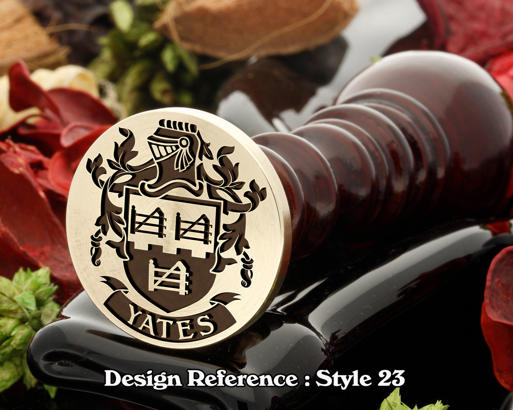 Yates Family Crest Wax Seal D23