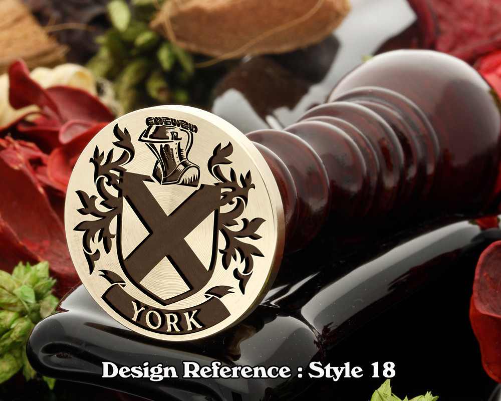 York Family Crest Wax Seal D18