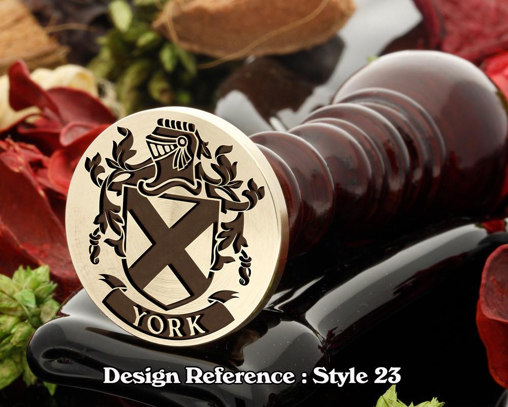 York Family Crest Wax Seal D23