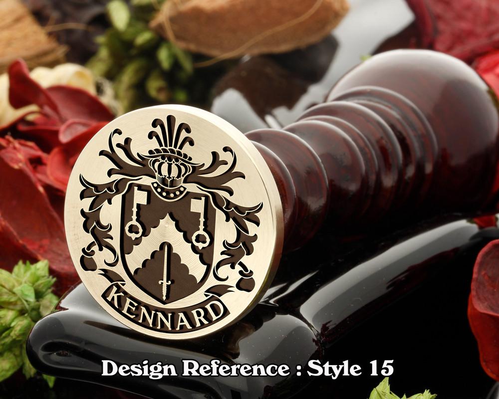 Kennard Family Crest Wax Seal D15