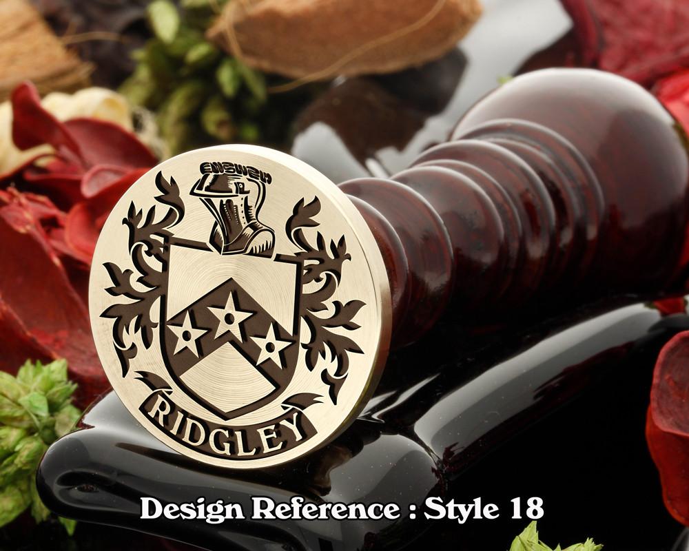 Ridgley Family Crest Wax Seal D18