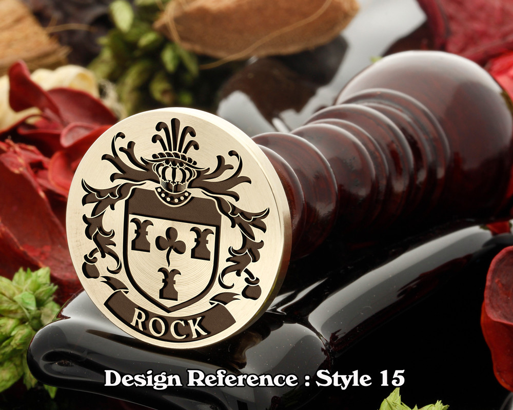 Rock Family Crest Wax Seal D15