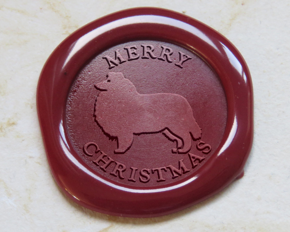Rough Collie Wax Seal Impression