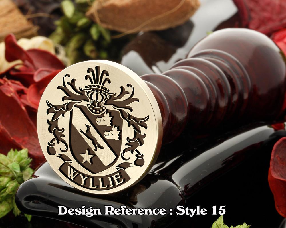 Wyllie Family Crest Wax Seal D15