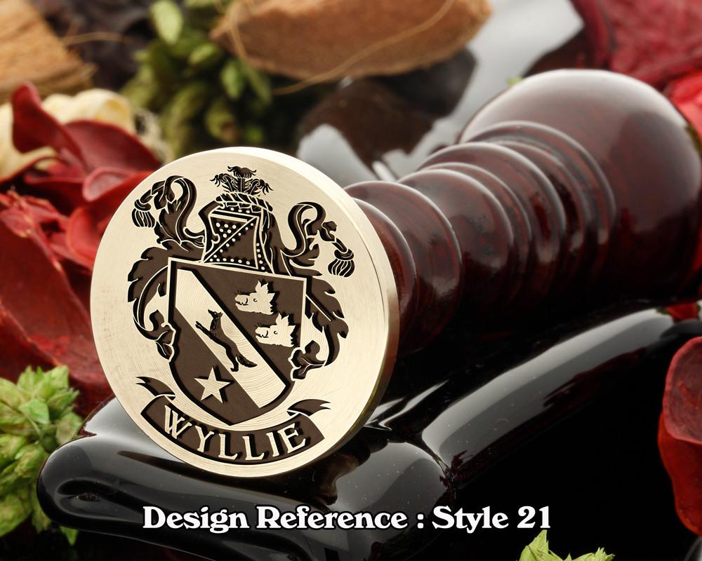 Wyllie Family Crest Wax Seal D21