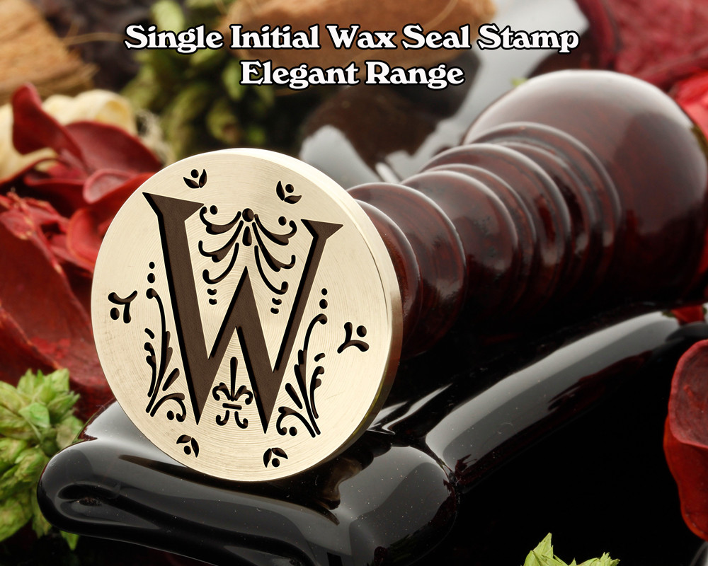 Elegant Range Wax Seal Initial W