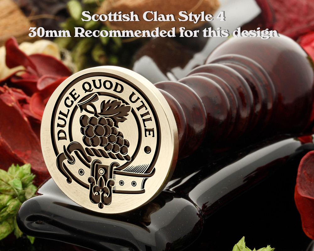 Strange Scottish Clan Wax Seal D4
