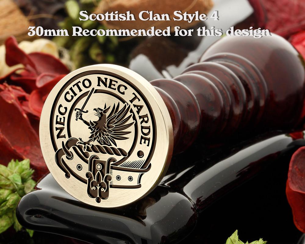 Bannatyne Scottish Clan Wax Seal D4
