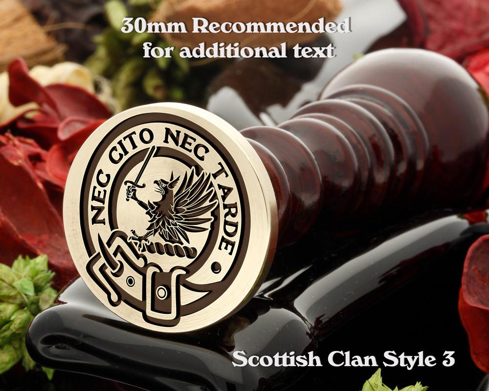 Bannatyne Scottish Clan Wax Seal D3