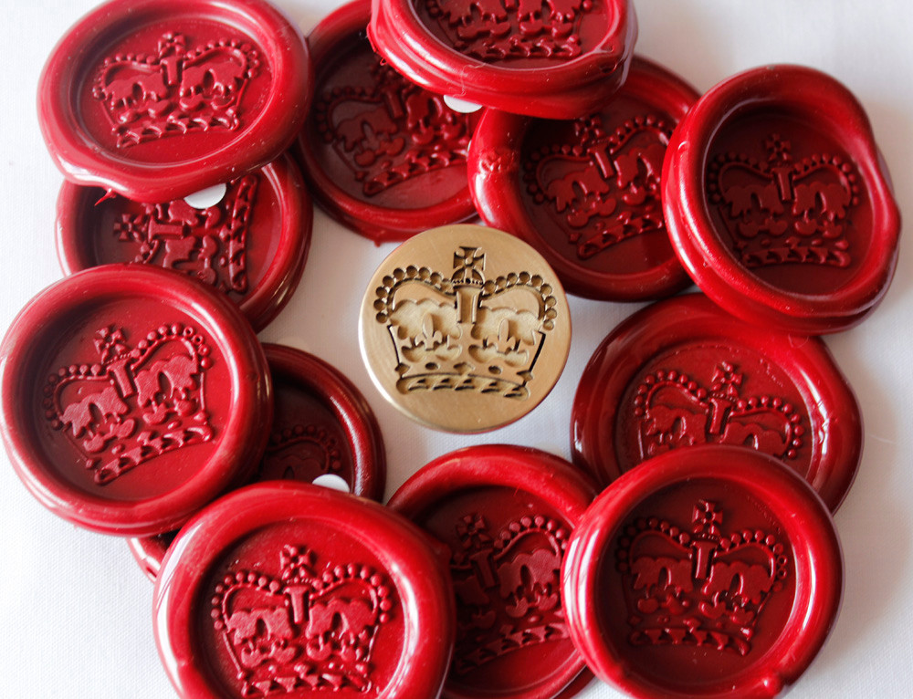 Vintage New Old Stock Letter R Wax Seal Stamp and stick of red wax