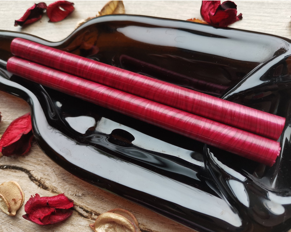 Ruby Red Pearl LARGE 11mm Glue Gun Sealing Wax made in Shropshire