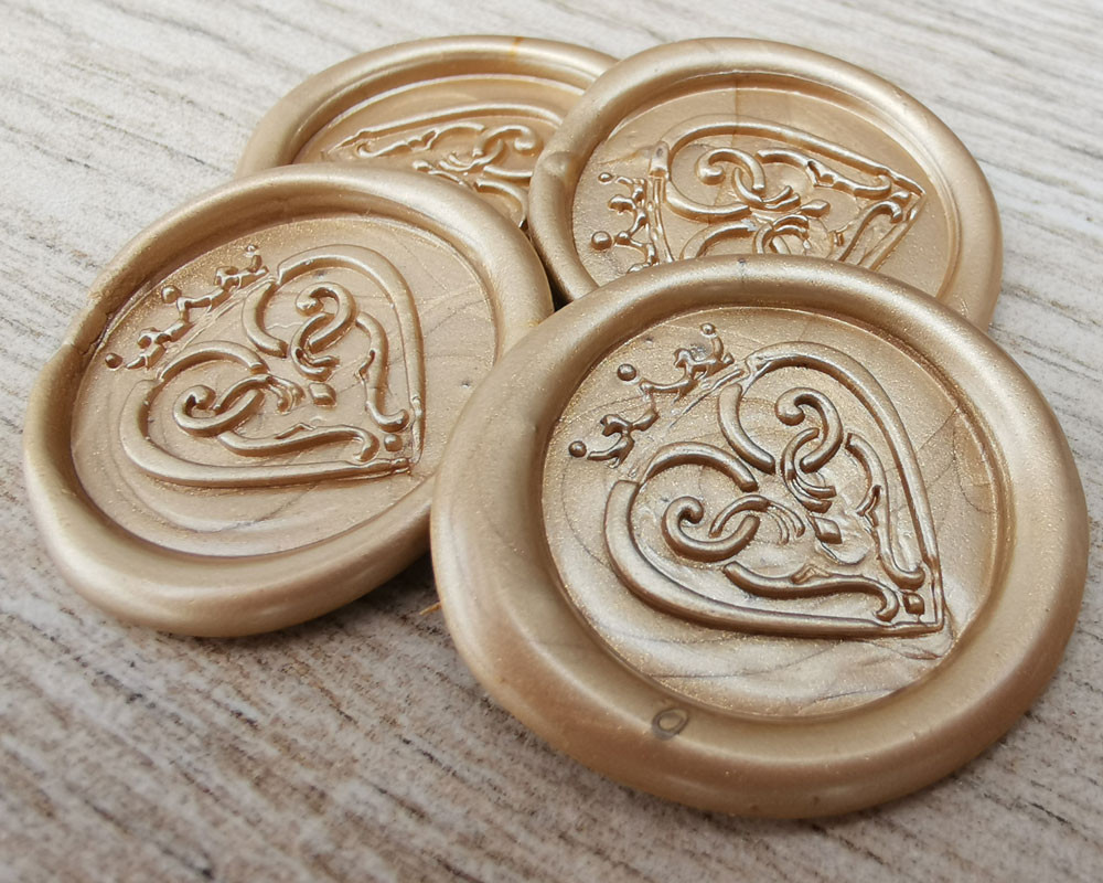NEW Pale Gold for Sealing Wax Stickers