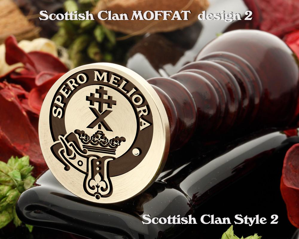 Moffat (2) Scottish Clan Wax Seal D2
