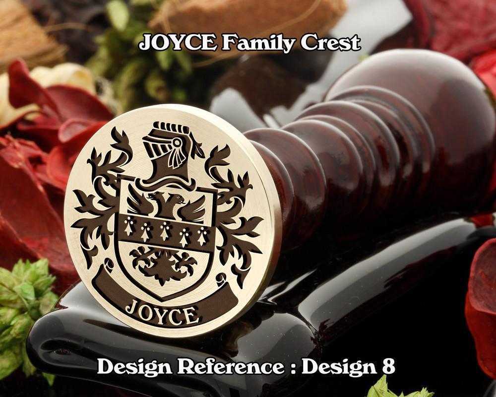 JOYCE Family Crest Wax Seal D8